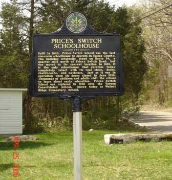Price's Switch Schoolhouse