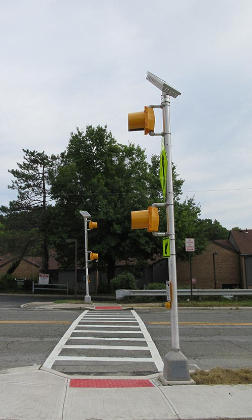 Completed Pedestrian Beacon