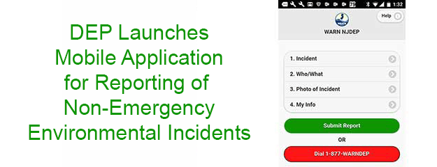 Smartphone app to conveniently report non-emergency environmental incidents.