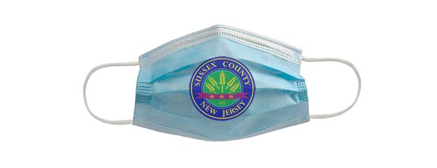 Face mask with county seal