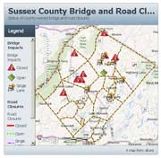 Sussex County Road Closures Viewer