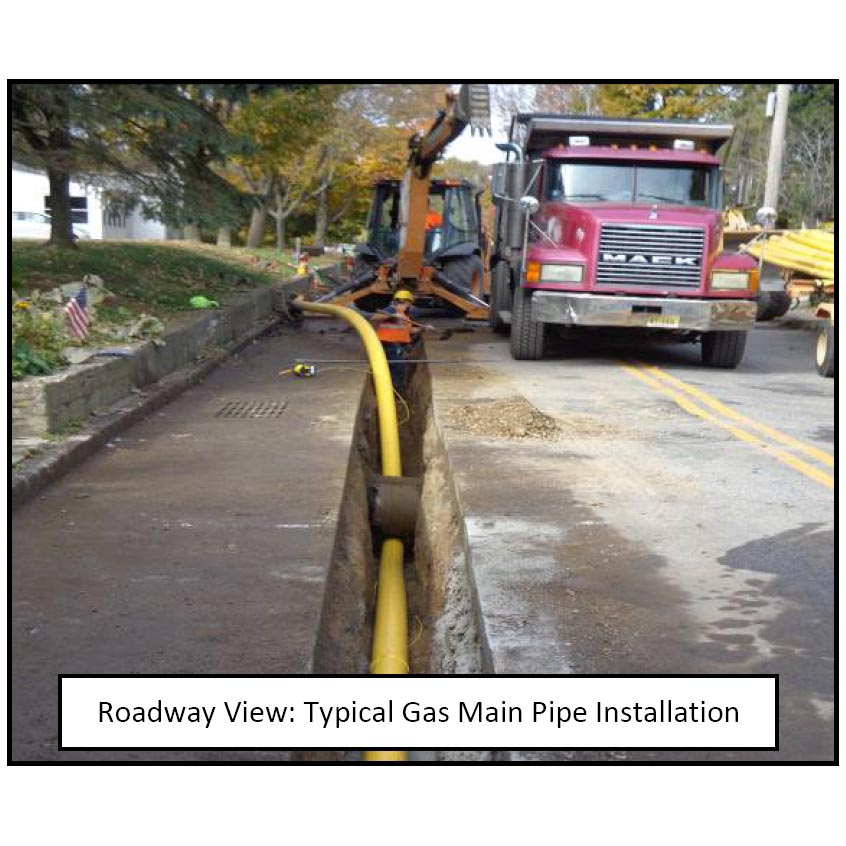 gas main installation
